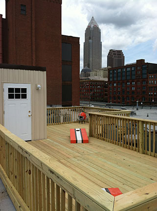 Rooftop Deck, Warehouse District, Cleveland Ohio, Remodel Me Today