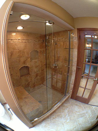 The shower was systematically assembled by first installing a 10 mil moisture barrier  Then we placed 1 2  cement board around the walls and installed a. Bathroom Renovation Westlake Ohio by Remodel Me Today